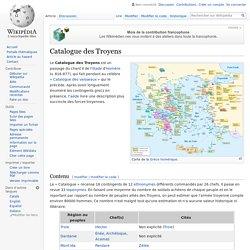 Catalogue des Troyens