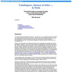 Cataloguer le Web - Comment monter un annuaire de sites - Cours EBD
