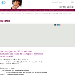 Les catalogues au défi du web - Les évolutions des règles de...