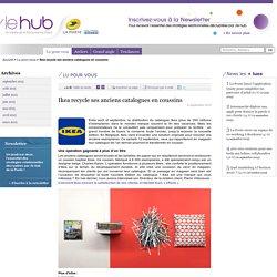 Ikea recycle ses anciens catalogues en coussins