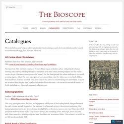 Catalogues « The Bioscope
