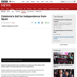 Catalonia's push for independence from Spain - BBC News