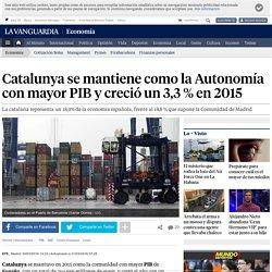 Catalunya se mantiene como la Autonomía con mayor PIB y creció un 3,3 % en 2015