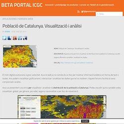 Població de Catalunya. Visualització i anàlisi - BETA PORTAL ICGC