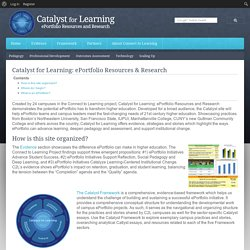Catalyst for Learning: ePortfolio Resources & Research