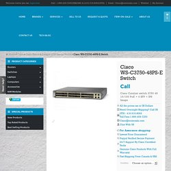 WS-C3750-48PS-E buy sell used new cisco catalyst switch Toronto Canada
