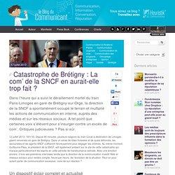 Catastrophe de Brétigny : La com' de la SNCF en aurait-elle trop fait