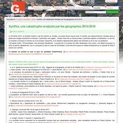 Xynthia, une catastrophe analysée par les géographes 2010-2014