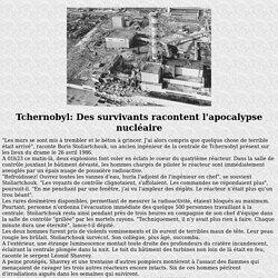 Les victimes de la catastrophe de Tchernobyl
