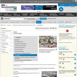 Chronologie - Catastrophes naturelles et prévention des risques en France