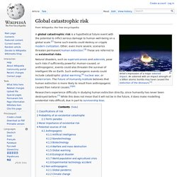 Global catastrophic risk