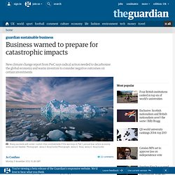 Business warned to prepare for catastrophic impacts