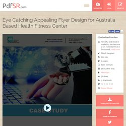 Eye Catching Appealing Flyer Design for Australia Based Health Fitness Center