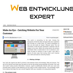 Make An Eye - Catching Website For Your Customer