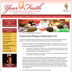 Catechesis/Religious Education K-8 » Year of Faith