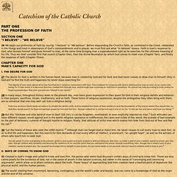 Catechism of the Catholic Church - Man's Capacity for God