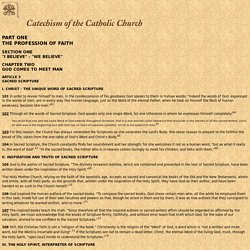 Catechism of the Catholic Church - Sacred Scripture