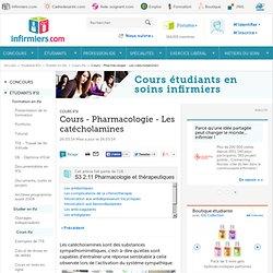 Cours - Pharmacologie - Les catécholamines
