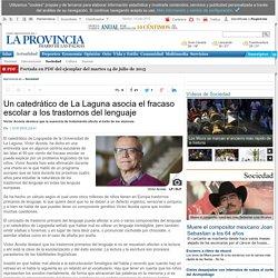 Un catedrático de La Laguna asocia el fracaso escolar a los trastornos del lenguaje
