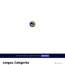 Lengua. Categorías Gramaticales by María de los Santos on Genial.ly