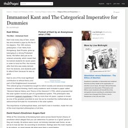 Immanuel Kant and The Categorical Imperative for Dummies