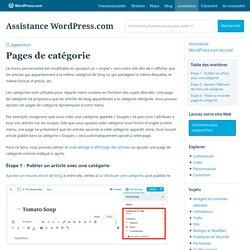 Pages de catégorie – Assistance WordPress.com