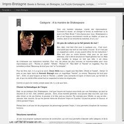 Impro-Bretagne: Catégorie : A la manière de Shakespeare