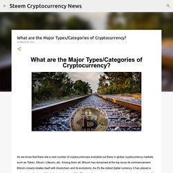 What are the Major Types/Categories of Cryptocurrency?