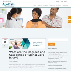 Categories and degrees of spinal cord injury