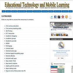 Educational Technology and Mobile Learning: Categories