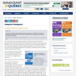 Catégories d'immigrants - Le site de référence sur l'immigration et la vie au Québec