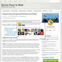 Catégories et tags – Bien organiser l'information sur votre blog # 2