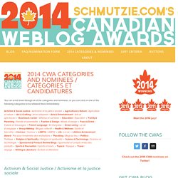2014 Categories & Nominees — 2014 Canadian Weblog Awards