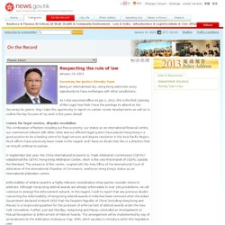 news.gov.hk - Categories - On the Record - Respecting the rule of law