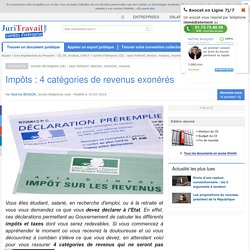 Impôts : 4 catégories de revenus exonérés