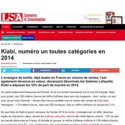 Kiabi, numéro un toutes catégories en 2014 - Textile, habillement