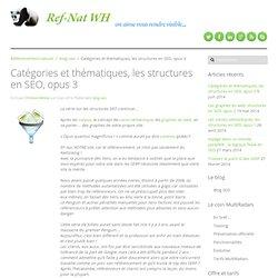 Catégories et thématiques d'un site, les structures en SEO