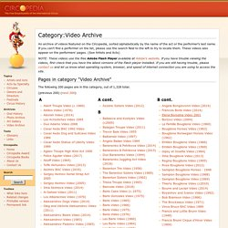 Category:Video Archive - Circopedia
