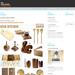Category Archive for 'office' at Sub-Studio Design Blog