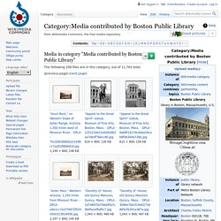 Category:Media contributed by Boston Public Library