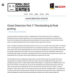 onset detection tutorial