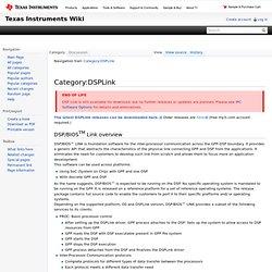 Category:DSPLink - Texas Instruments Embedded Processors Wiki - Iceweasel