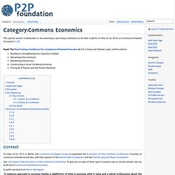 Category:Commons Economics
