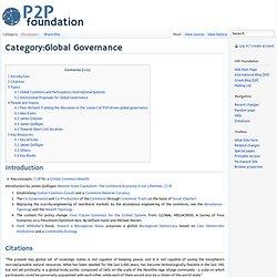 Category:Global Governance