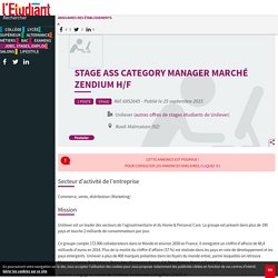 Stage Ass Category Manager Marché Zendium H/F
