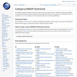 Category:OWASP Download