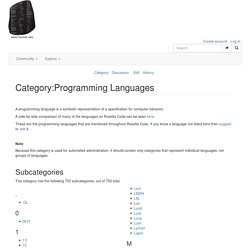 Category:Programming Languages
