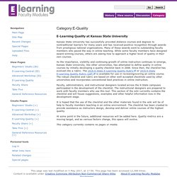 Category:E-Quality - E-Learning Faculty Modules