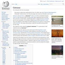 Catenary