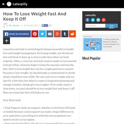 How To Lose Weight Fast And Keep It Off